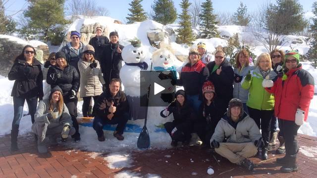 Aquascape Snowman Action